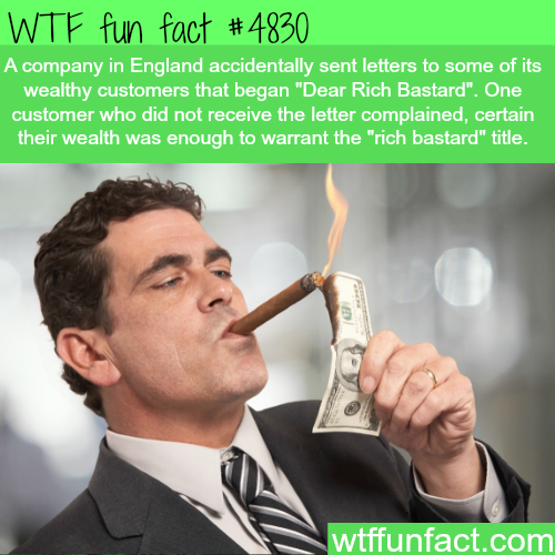 Dear Rich Bastard - WTF fun facts