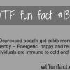 depressed people get cold