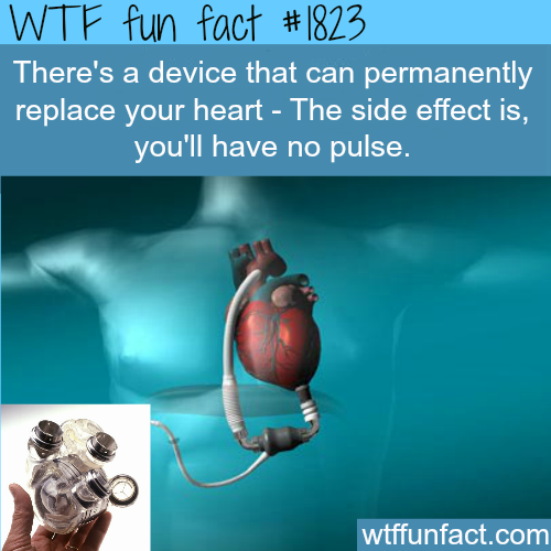 Device that replace heart - WTF fun facts