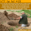 digging a hole through the earth