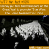 disney put 500 stortroopers on the great wall to