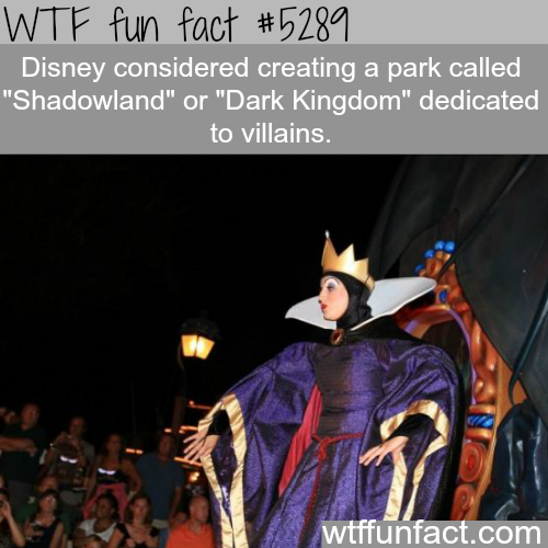 Disney's park that is dedicated to villains - WTF fun facts