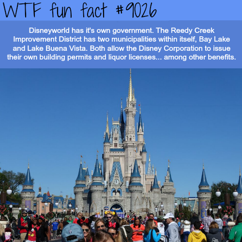 Disneyworld has its own government - WTF fun facts