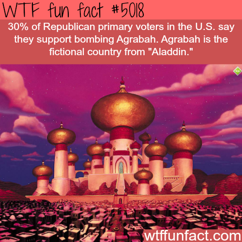 Do you support the bombing of Agrabah? - WTF fun facts