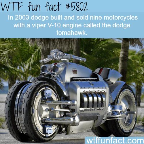 Dodge tomahawk - WTF fun facts