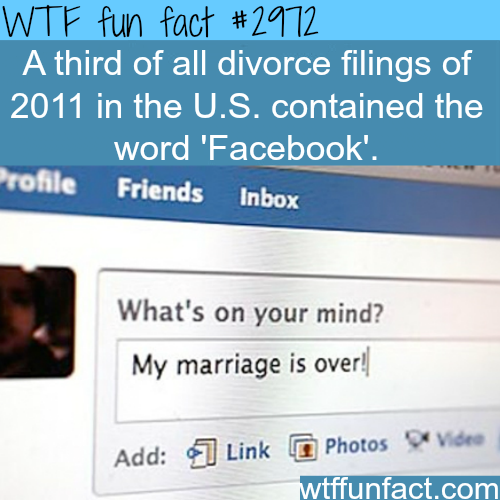 Does Facebook cause divorce? -WTF fun facts