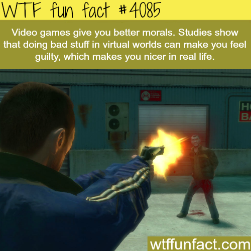Does playing video games make you nicer?  - WTF fun facts