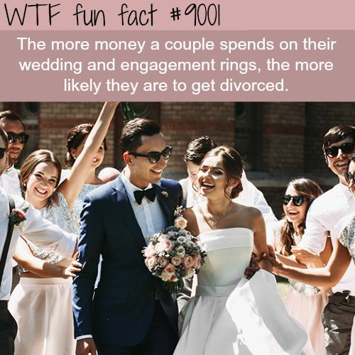 Don't spend a lot of money on your wedding - WTF fun facts
