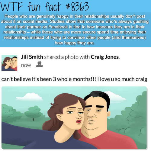 Don't talk a lot about your relationship on social media - WTF fun facts