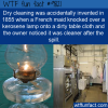 dry cleaning was accidentally invented in 1855