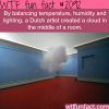 dutch artists creats a cloud in the middle of the room