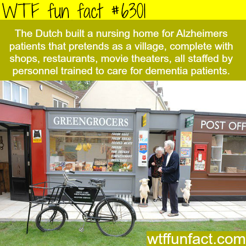 Dutch village for Alzheimer patients - WTF fun facts