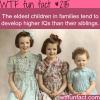 eldest children develop higher iqs