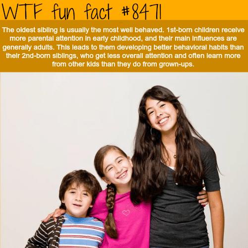 Eldest siblings - WTF fun facts