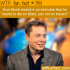 elon must wants to die on mars wtf fun facts