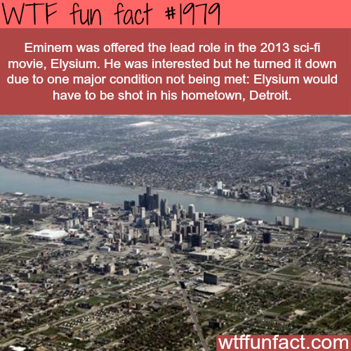 Eminem offered a lead role in Elysium - WTF fun facts