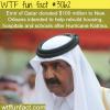 emir of qatar donated 100 million dollars to katrina vic