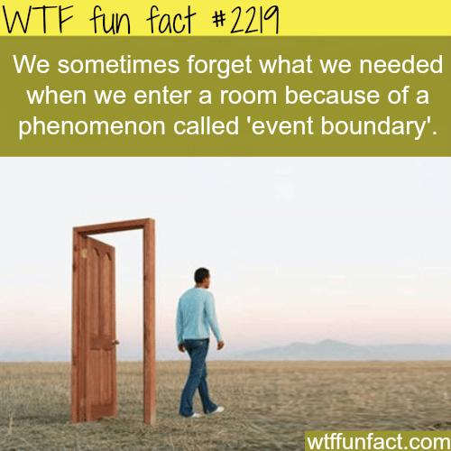 Event boundary