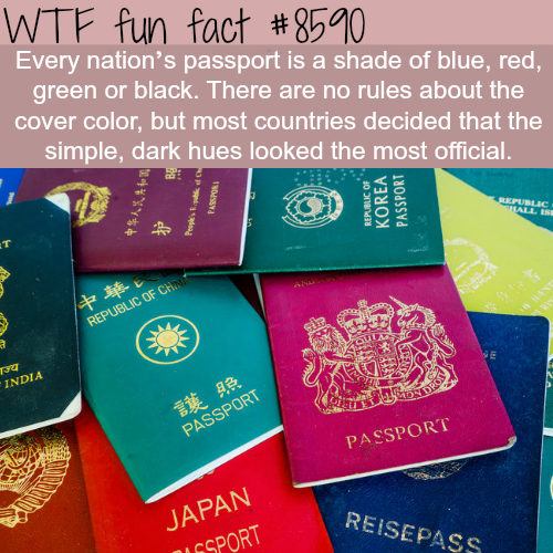 Every countries' passport color is a shade ofblue
