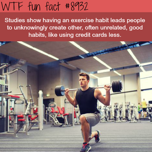 Exercise can lead to other good habits - WTF fun facts