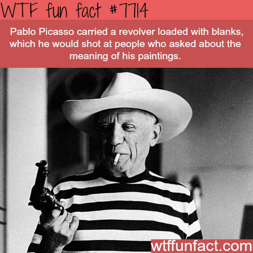 Facts about Pablo Picasso - WTF fun facts