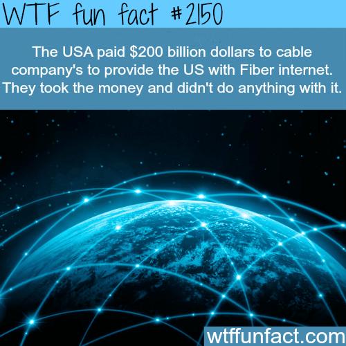 Fiber internet -WTF fun facts