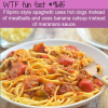 filipino style spaghetti uses hot dogs instead of