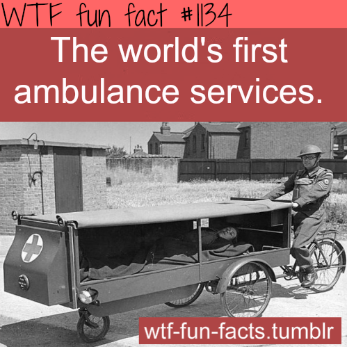 first ambulance in the world