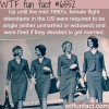 flight attendants in the us had to be single wtf