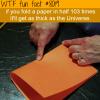 folding a paper in half wtf fun fact