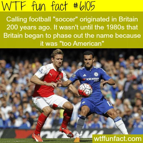 Football vs. soccer - WTF fun facts