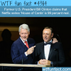 former president clinton claims house of cards