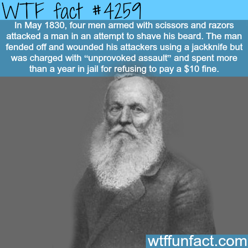 Four men attack a man with scissors to shave his beard -  WTF fun facts