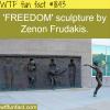 freedom sculpture by zenon fraduakis