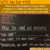 french cafe that charges more for rude customers