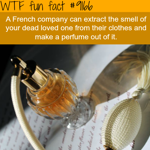 French Company will make a perfume that smells like your loved one - WTF Fun Facts