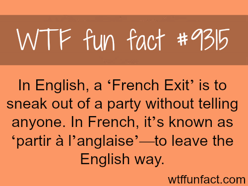 French Exit - WTF fun fact