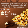 french fries with chocolate sauce is introduced in