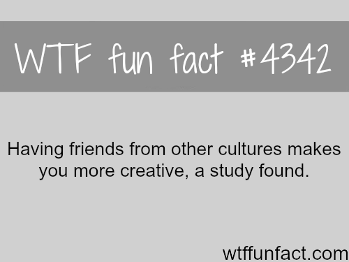 Friends from other cultures -  WTF fun facts