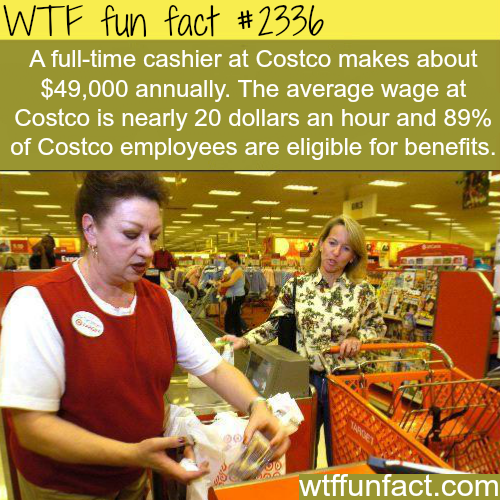 Full time cashier at Costco salary - WTF fun facts
