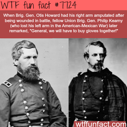 General Otis Howard and Philip Kearny - WTF fun facts