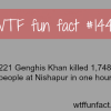 genghis khan killed 1 million