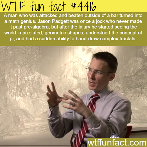Genius by accident: Jason Padgett -   WTF fun facts