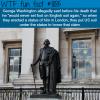 george washington statue in london wtf fun fact