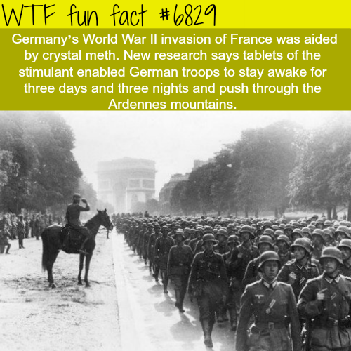 Germany's invasion of France was aided by meth - WTF fun fact