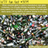 glass recycling and the amount of co2 saves per ton