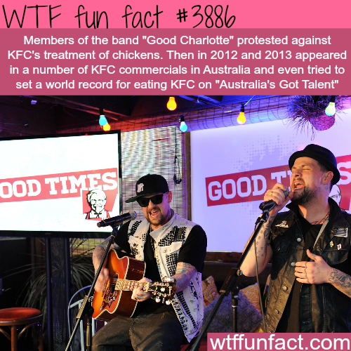"""Good Charlotte"" protests KFC's treatment of chickens - WTF fun facts"