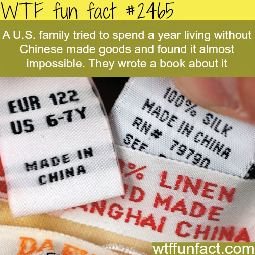 Goods that are not made in China -WTF funfacts