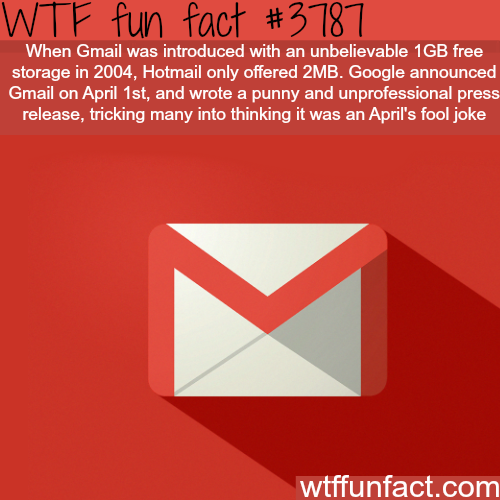 Google April fools - WTF fun facts