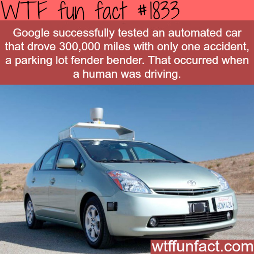 Google's self driving car -WTF fun facts